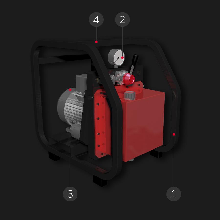 PP600 high pressure hydraulic power unit
